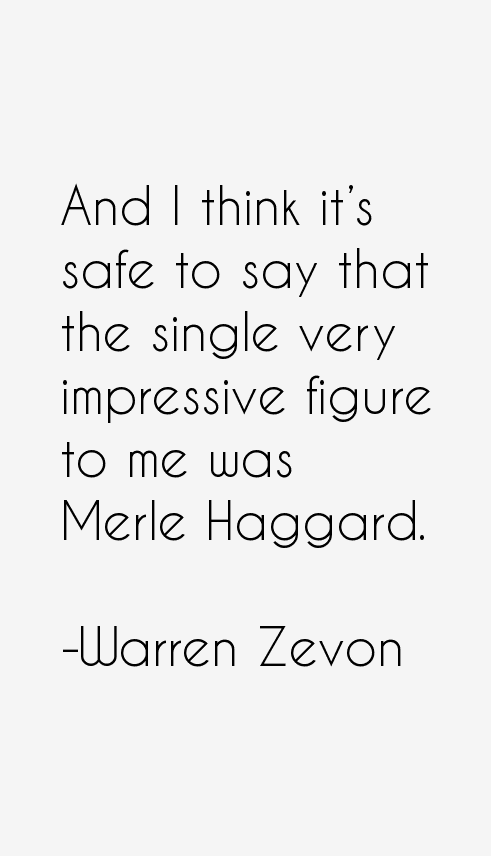 Warren Zevon Quotes