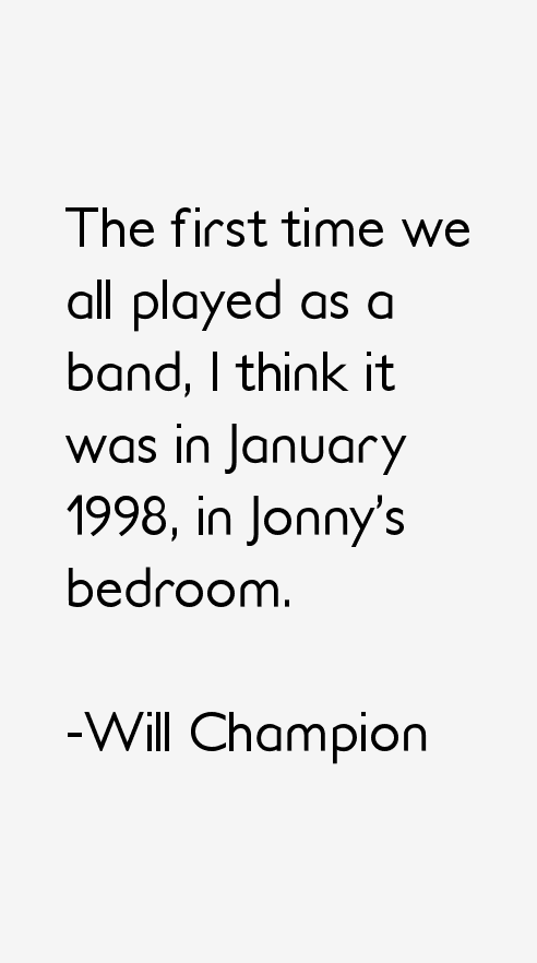 Will Champion Quotes