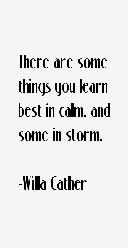 Willa Cather Quotes