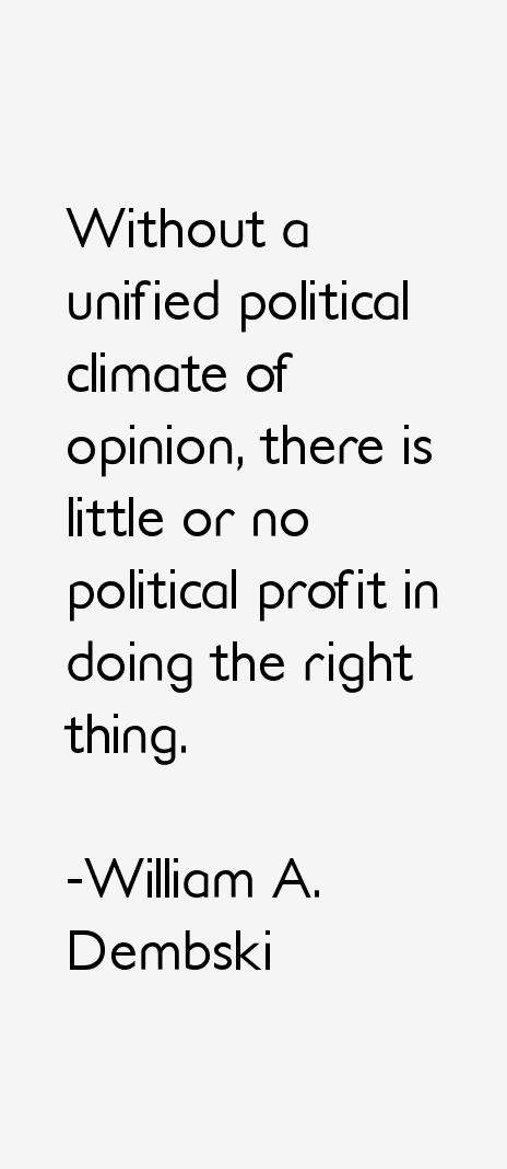 William A. Dembski Quotes