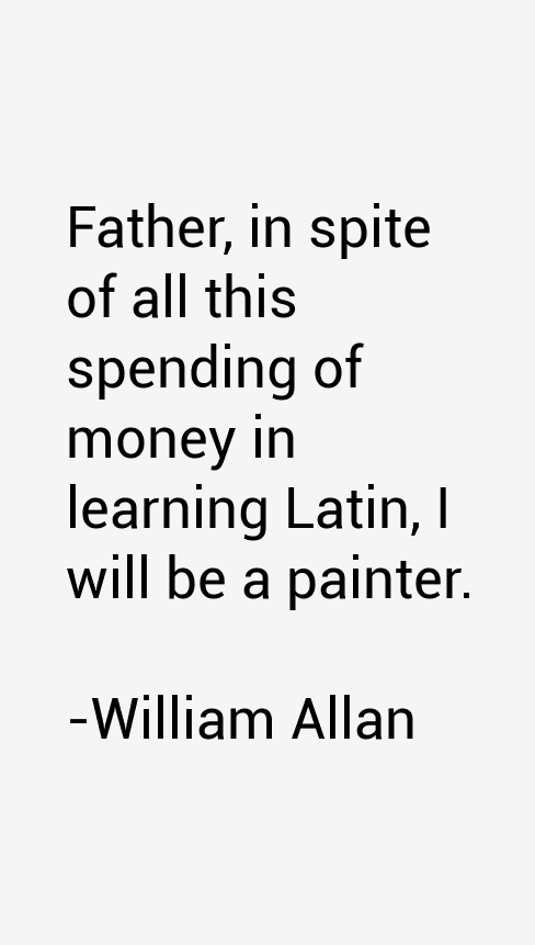 William Allan Quotes