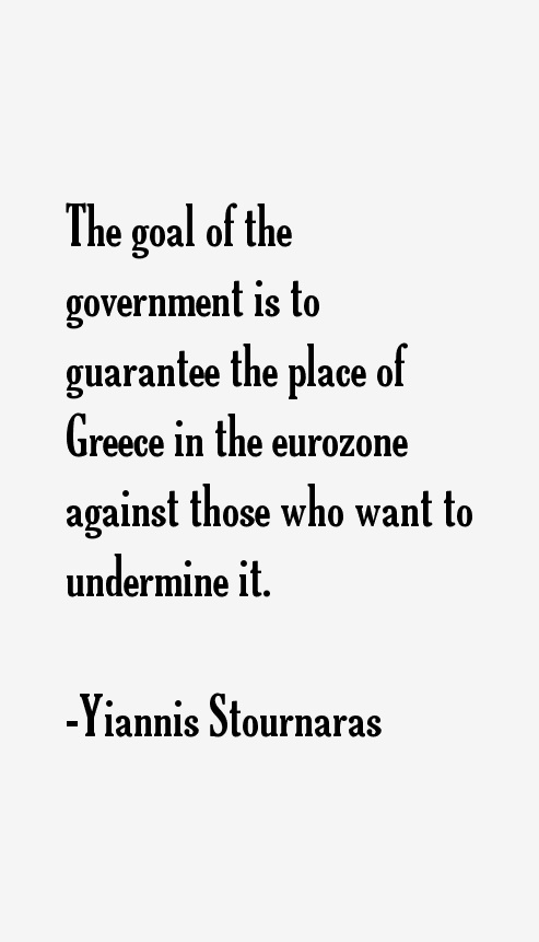 Yiannis Stournaras Quotes