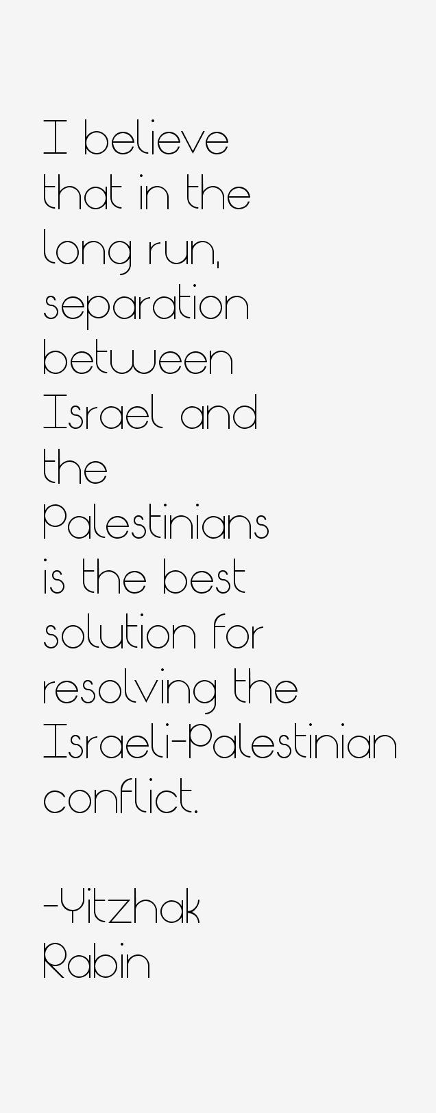 Yitzhak Rabin Quotes