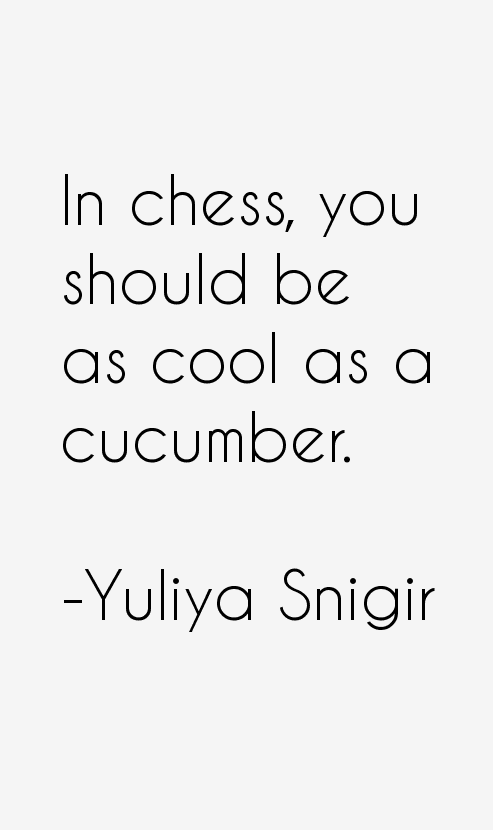 Yuliya Snigir Quotes