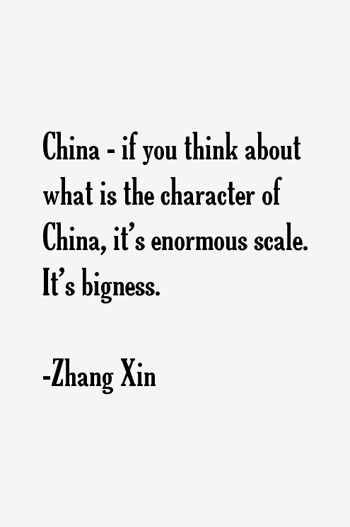 Zhang Xin Quotes