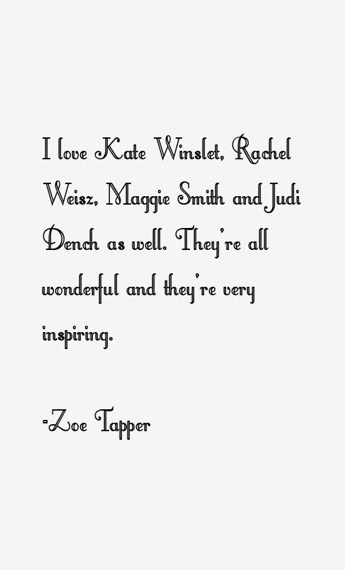 Zoe Tapper Quotes