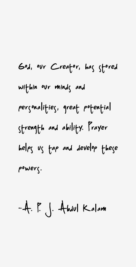 A. P. J. Abdul Kalam Quotes