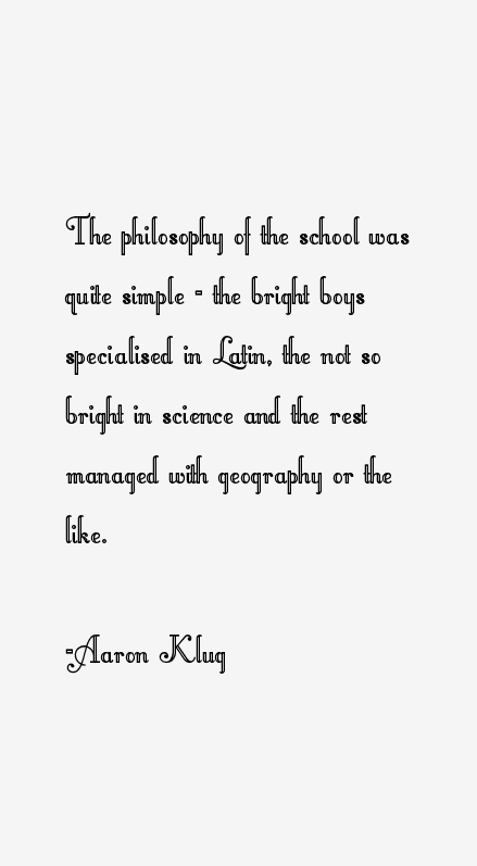 Aaron Klug Quotes