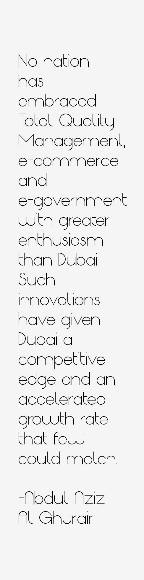 Abdul Aziz Al Ghurair Quotes