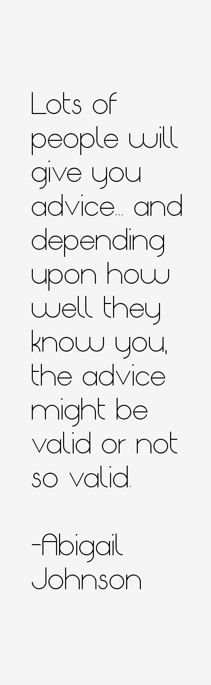 Abigail Johnson Quotes