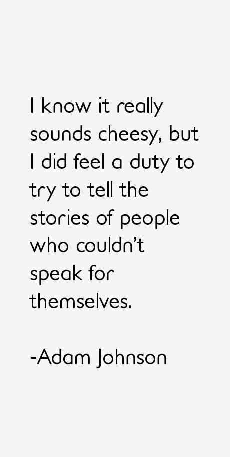 Adam Johnson Quotes