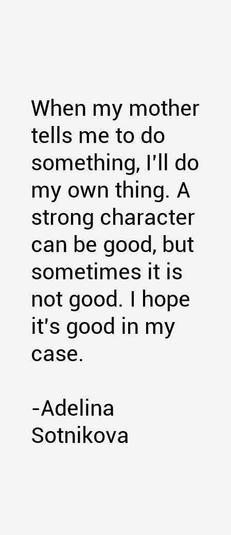 Adelina Sotnikova Quotes