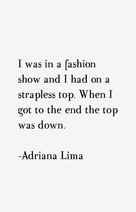 Adriana Lima Quotes