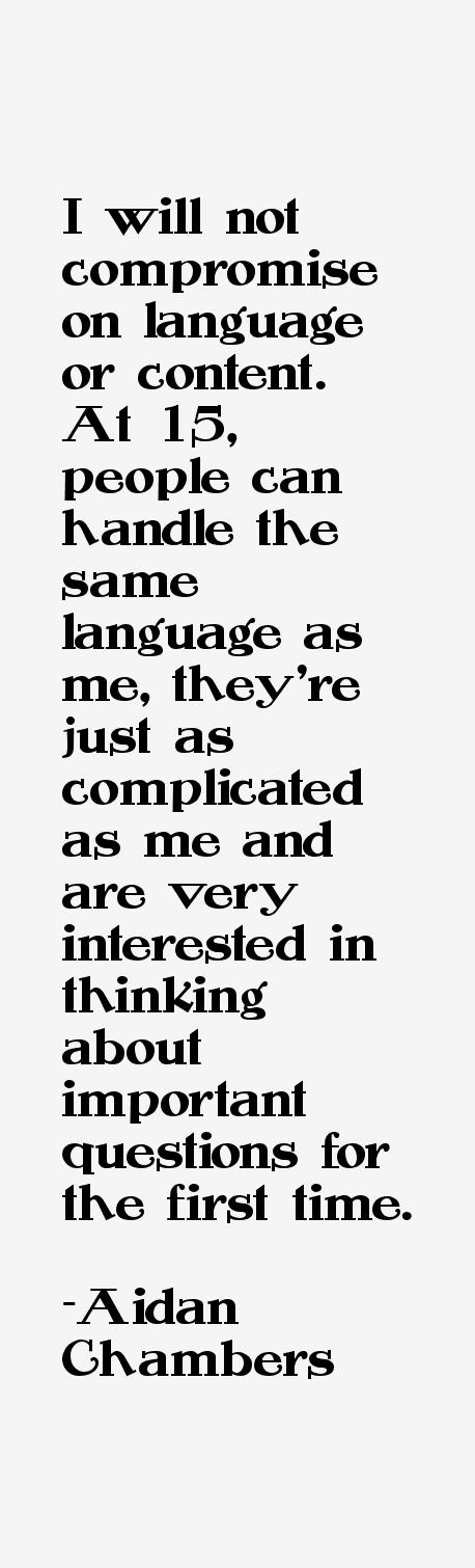 Aidan Chambers Quotes