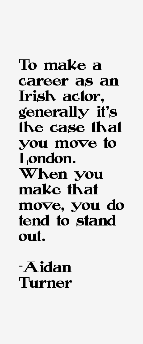 Aidan Turner Quotes