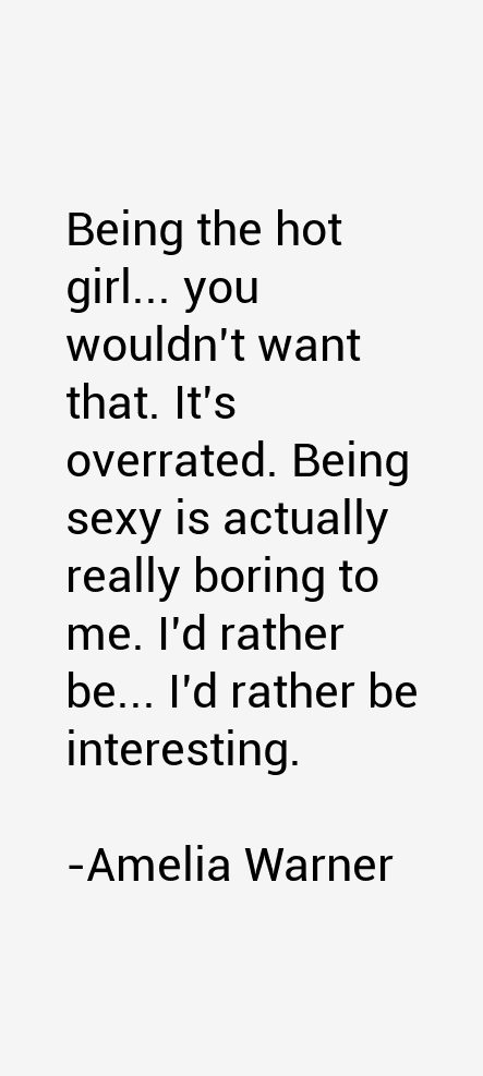 Amelia Warner Quotes