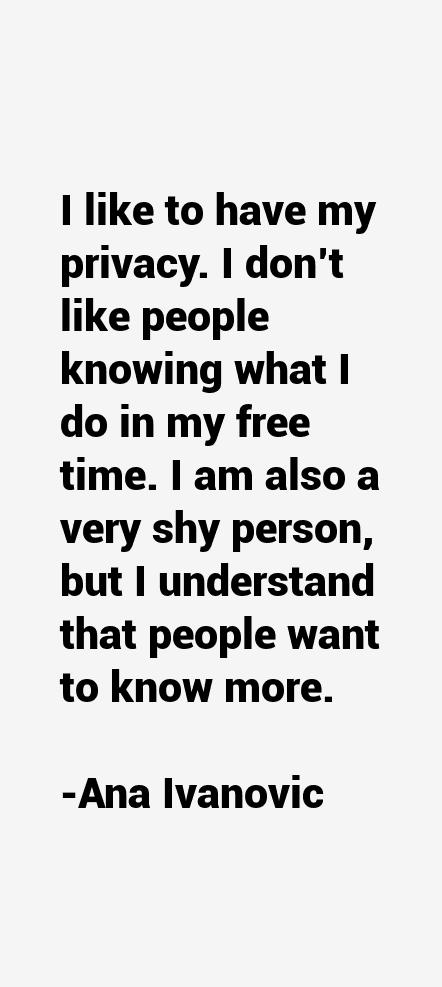 Ana Ivanovic Quotes