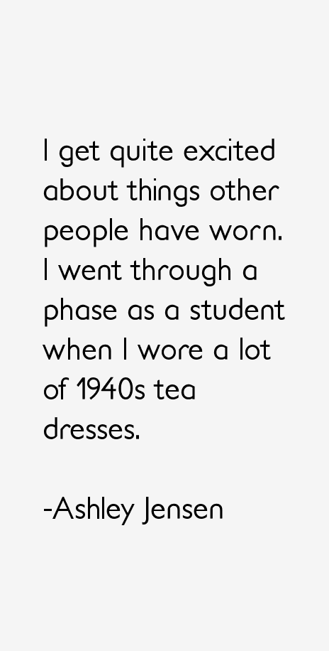 Ashley Jensen Quotes