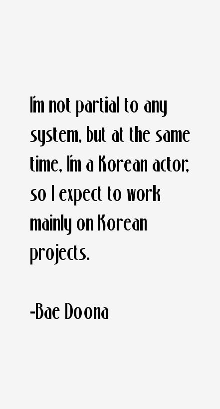 Bae Doona Quotes