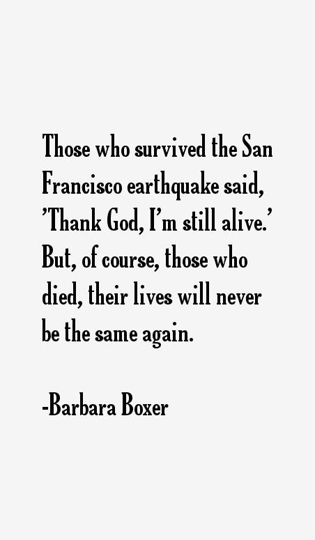 Barbara Boxer Quotes