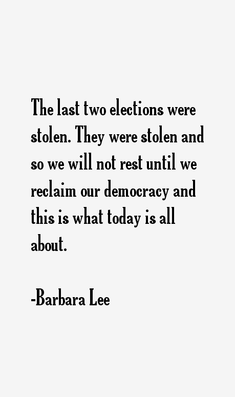 Barbara Lee Quotes