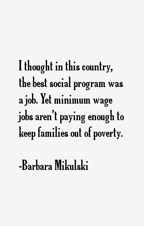Barbara Mikulski Quotes