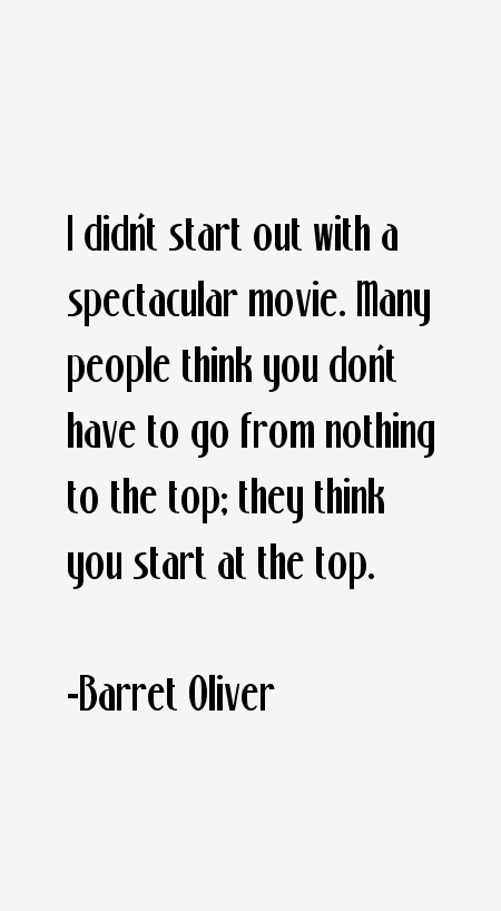 Barret Oliver Quotes