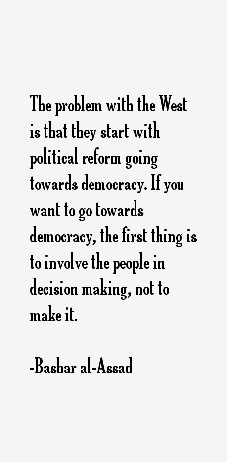 Bashar al-Assad Quotes