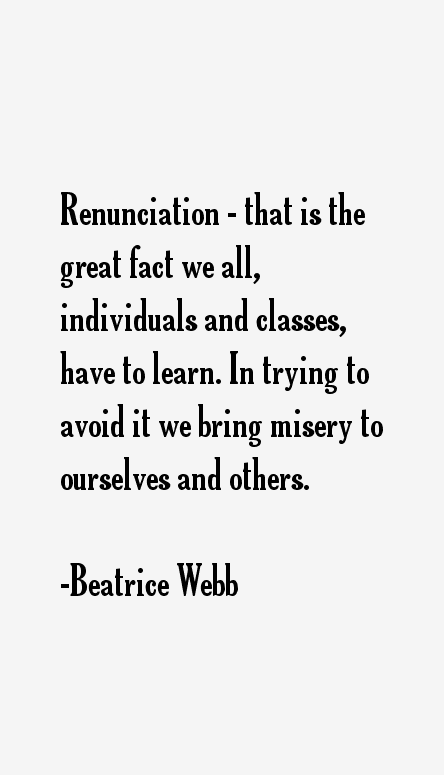 Beatrice Webb Quotes