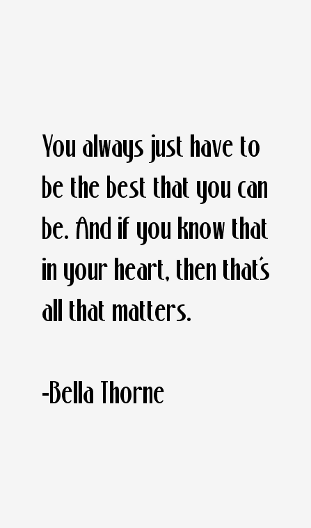 Bella Thorne Quotes