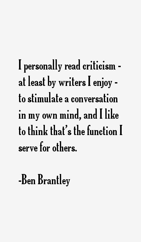 Ben Brantley Quotes