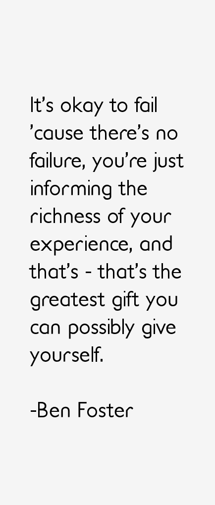 Ben Foster Quotes
