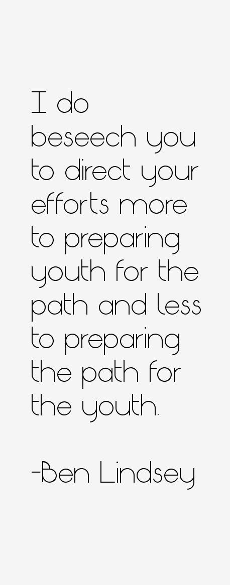 Ben Lindsey Quotes