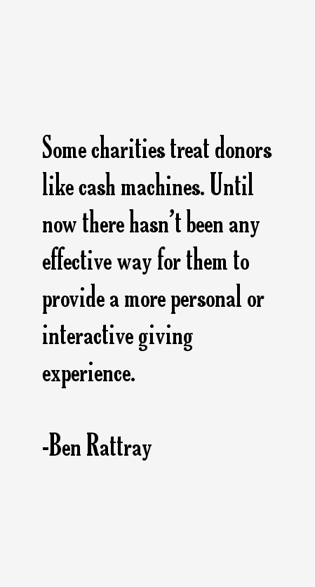 Ben Rattray Quotes