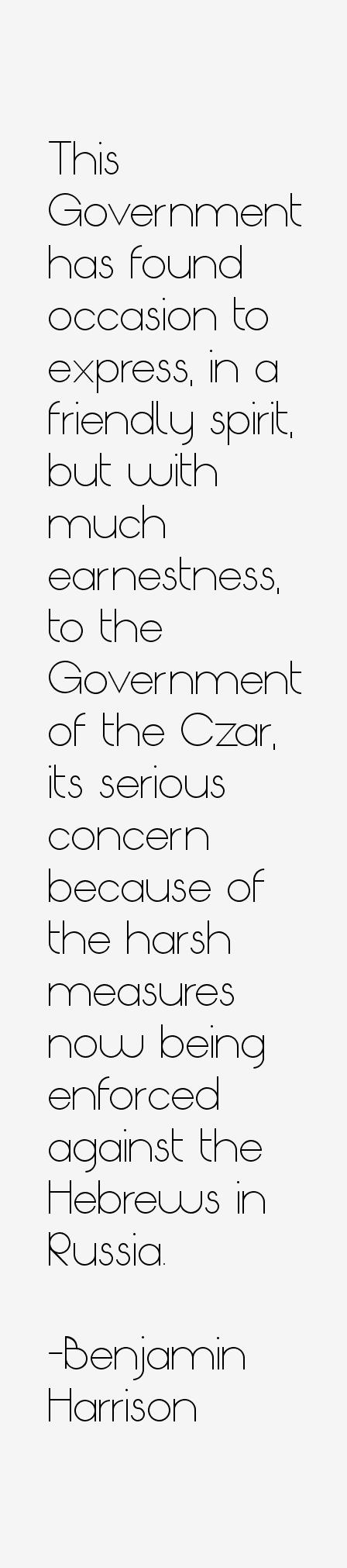 Benjamin Harrison Quotes