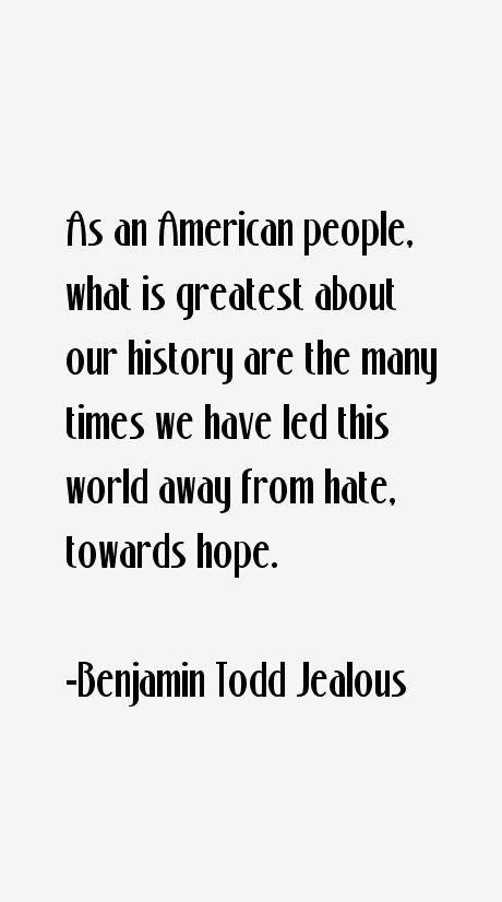 Benjamin Todd Jealous Quotes