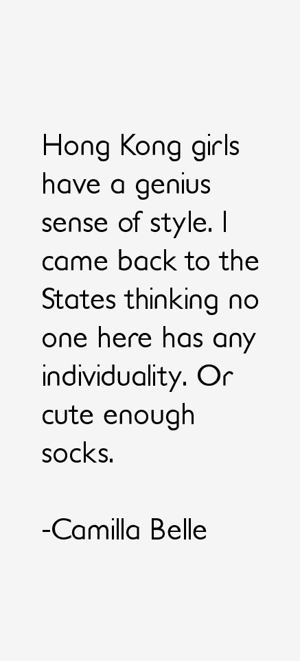 Camilla Belle Quotes