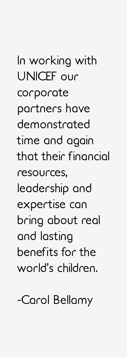 Carol Bellamy Quotes