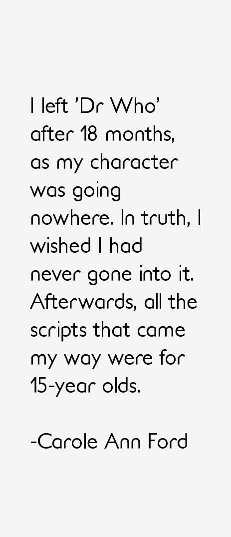 Carole Ann Ford Quotes