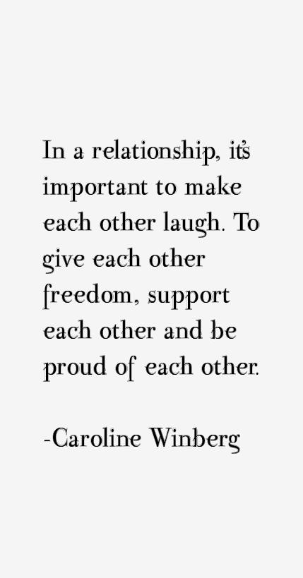 Caroline Winberg Quotes