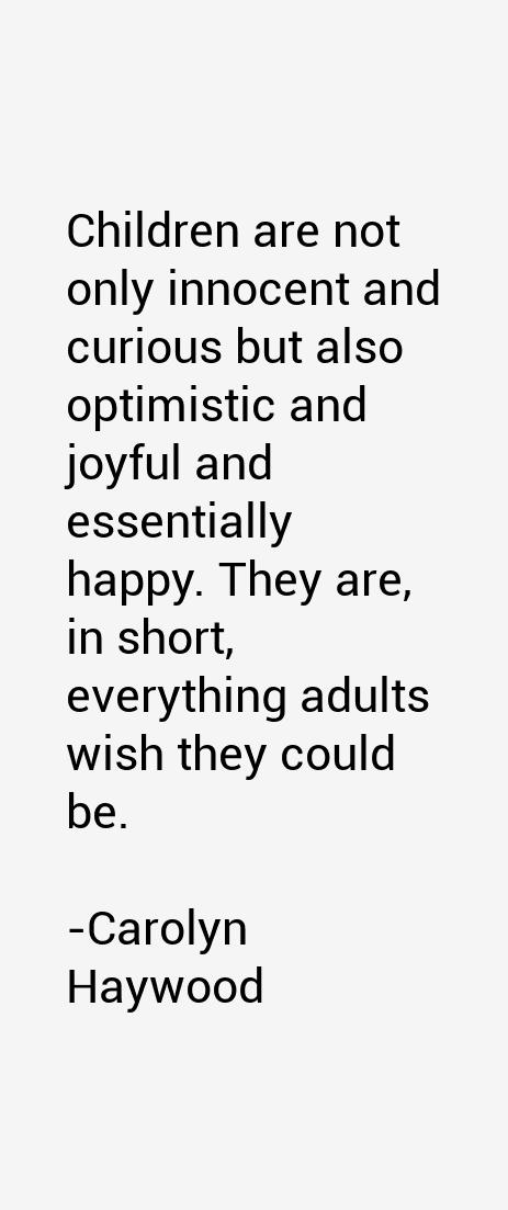 Carolyn Haywood Quotes
