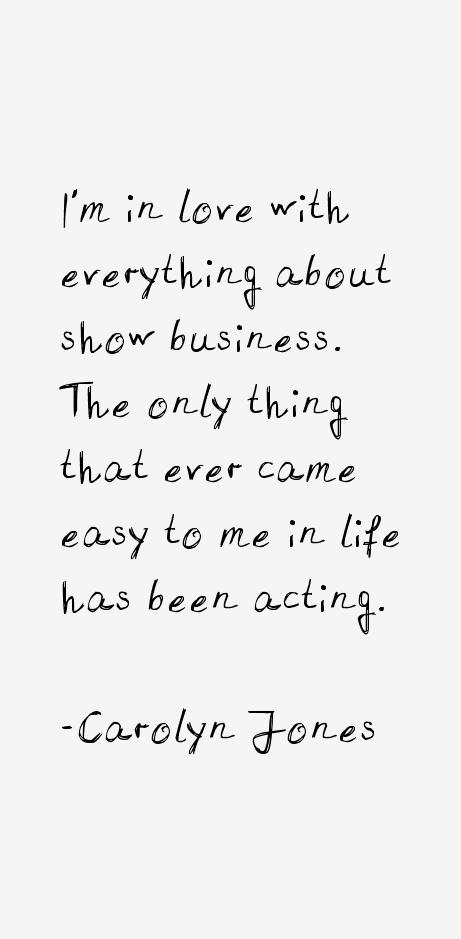 Carolyn Jones Quotes
