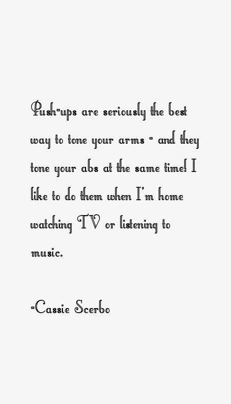 Cassie Scerbo Quotes