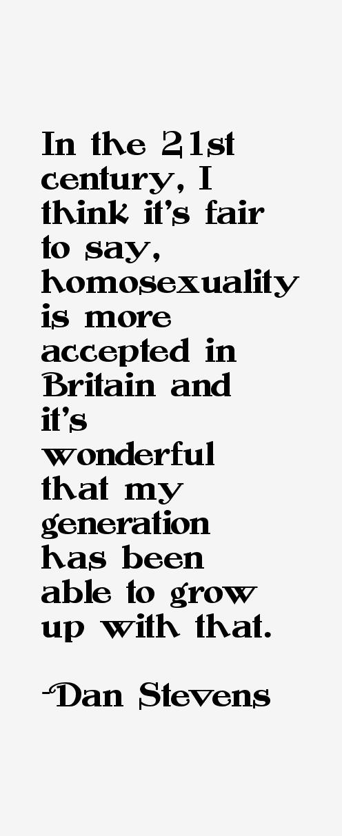 Dan Stevens Quotes