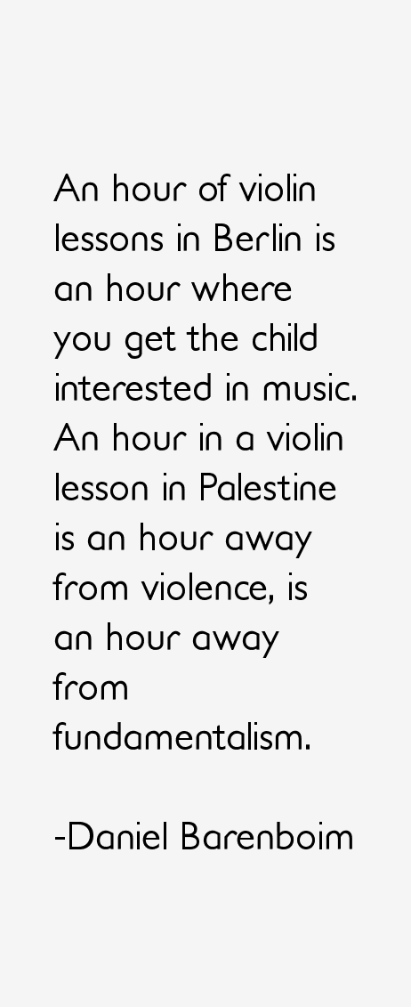 Daniel Barenboim Quotes