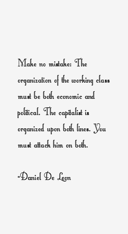 Daniel De Leon Quotes