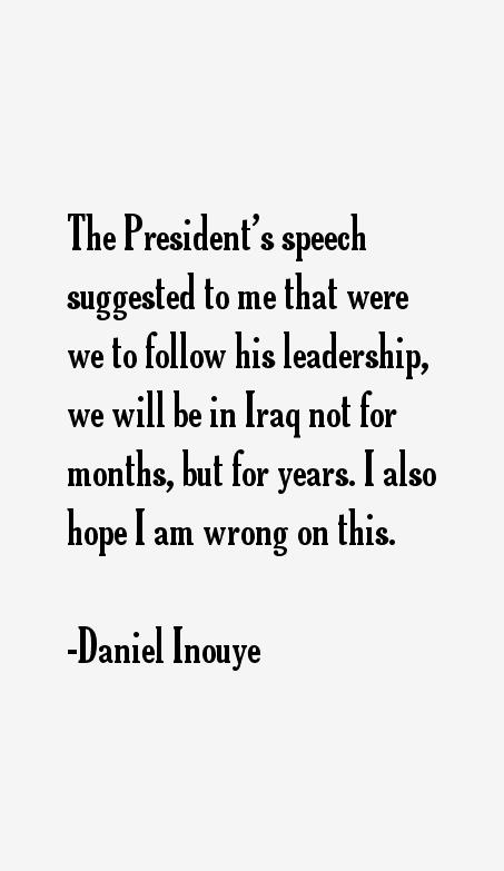 Daniel Inouye Quotes