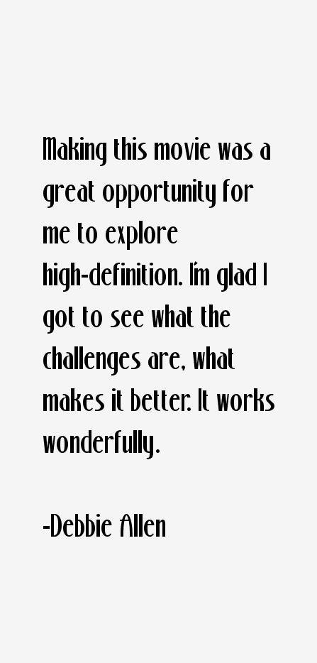 Debbie Allen Quotes