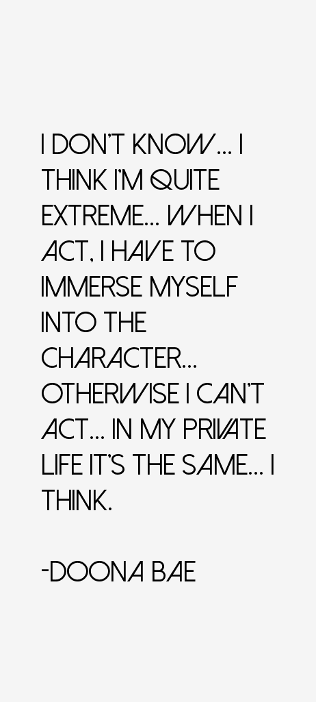 Quotes Bae Mean Quotesgram: Doona Bae Quotes & Sayings