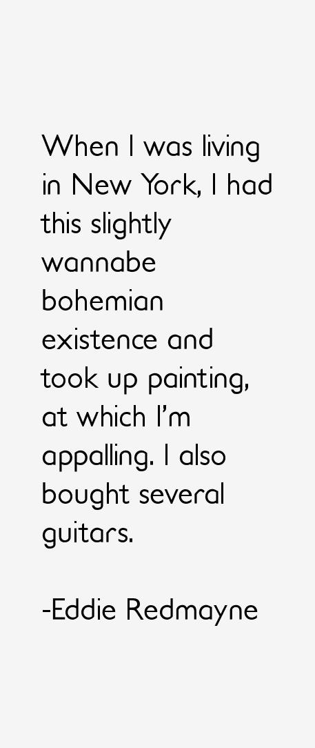 Eddie Redmayne Quotes